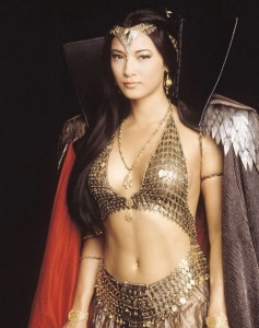Actress Kelly Hu in The Scorpion King